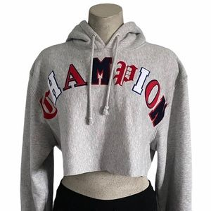 Champion | Reverse Weave Crop Cut Off Hoodie
